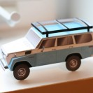 Paper FJ55 Land Cruiser model kit