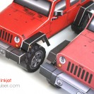 Jeep Wrangler (JK) 4-Door Wagon paper model