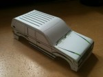 Toyota Land Cruiser LC100 beta paper model