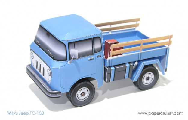 Willys Jeep FC-150 paper model