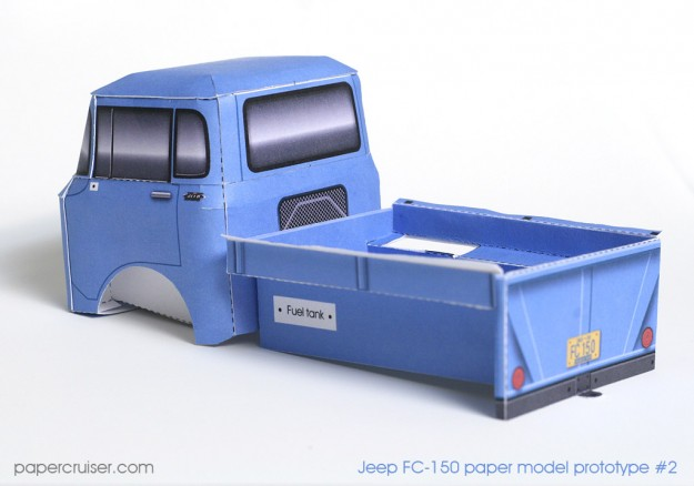 Jeep FC-150 cabin and bed pieces