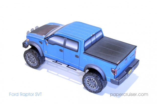 Ford Raptor Paper Model