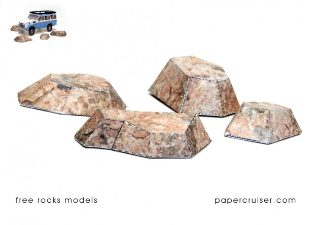 Free rocks paper models