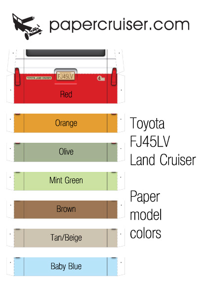 FJ45LV colors