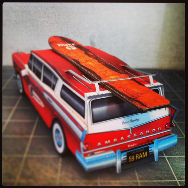 apignataro Rambler build with surf board