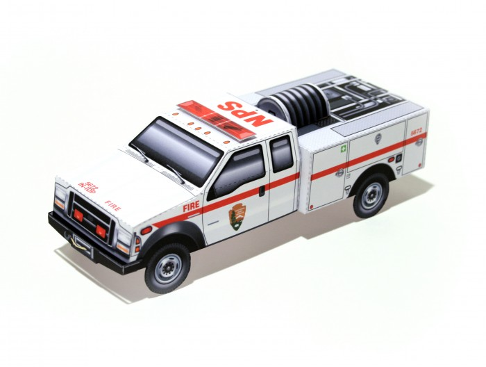 NPS Type 6 Fire Engine paper model