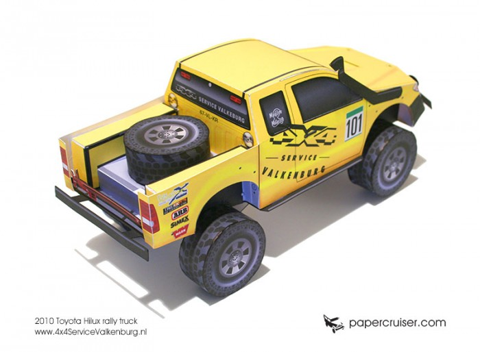 Custom paper model for 4x4 Service Valkenburg