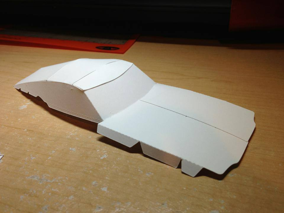 1968 Shelby Mustang GT500 KR Paper Model Work in Progress « Papercruiser.com