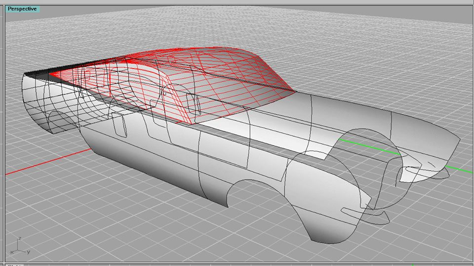 1968 Shelby Mustang GT500 KR Paper Model Work in Progress