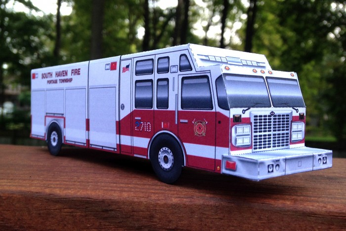 South Haven Fire Engine paper model