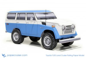 Toyota FJ55 Landcruiser rolling paper model