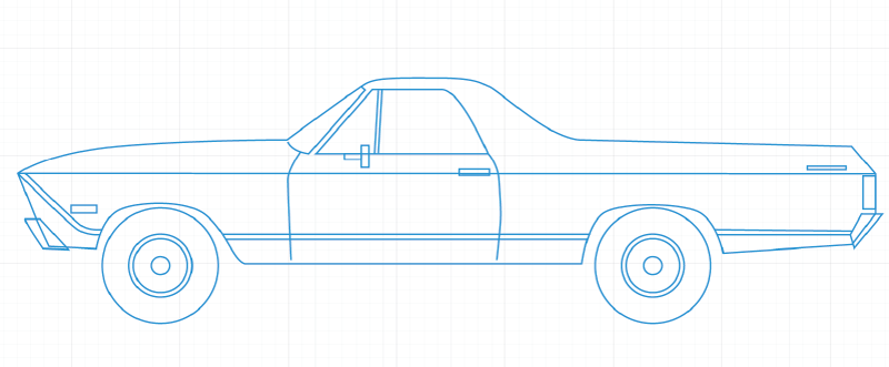 Creating the El Camino paper model, start to finish « Papercruiser.com