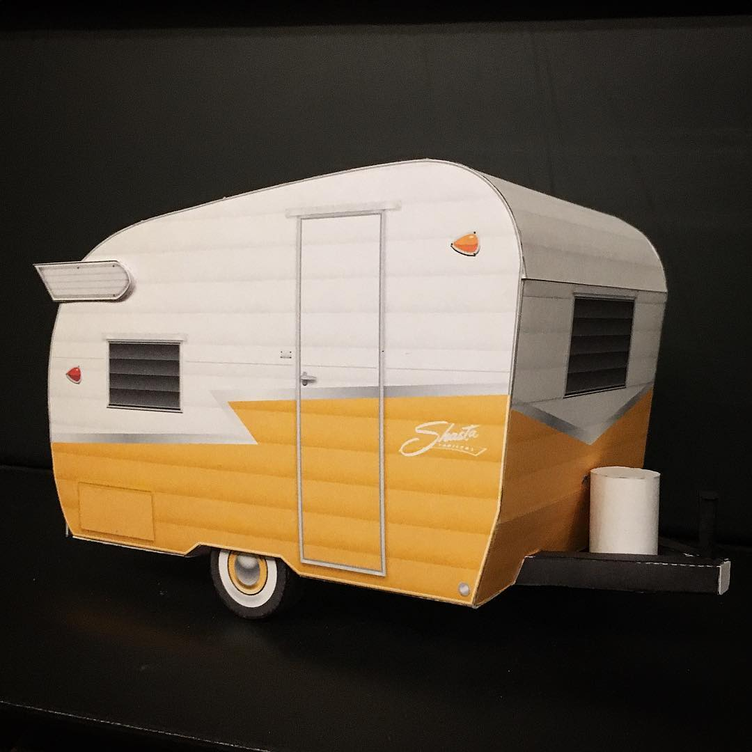 Vintage Shasta Compact Camper Paper Model Papercruiser