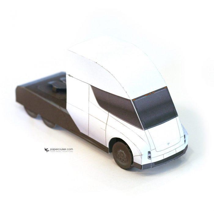 The Tesla Semi Paper Model Has Been Released
