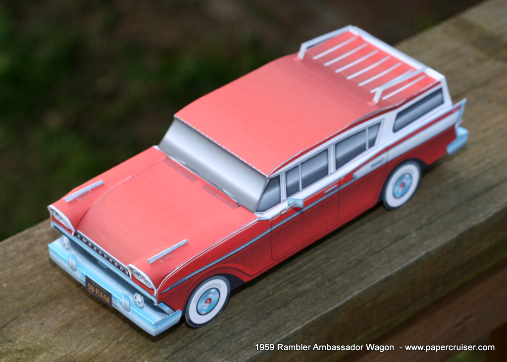 Rambler Ambassador station wagon (RED)