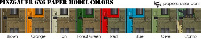 pinzgauer paper model colors