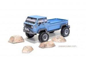 Paper model rocks