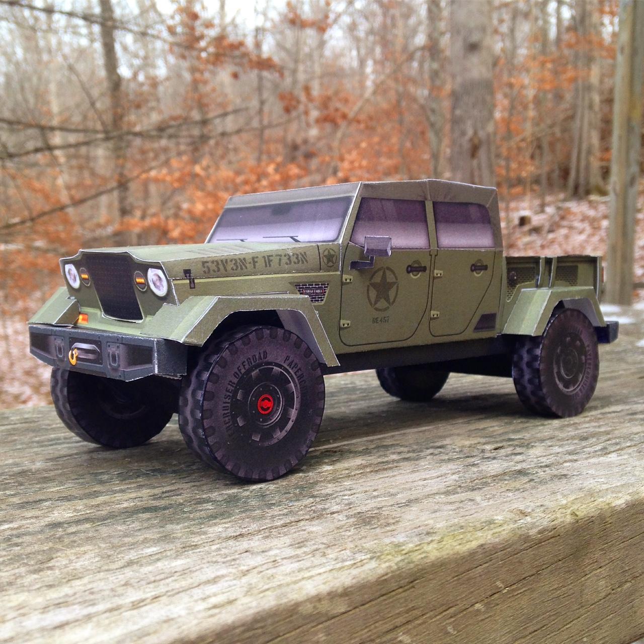 Jeep Crew Chief 715 Concept Fc Truck Model