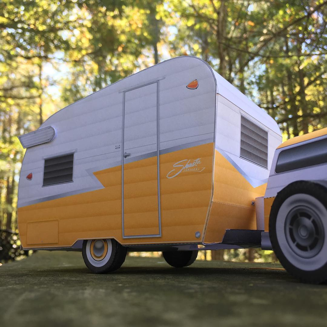 Camper With Outdoor Kitchen: Shasta Compact Camper Trailer « Papercruiser.com