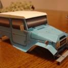 Paper FJ40 Land Cruiser paper model kit