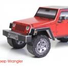 Jeep Wrangler (JK) 4-Door Wagon paper model