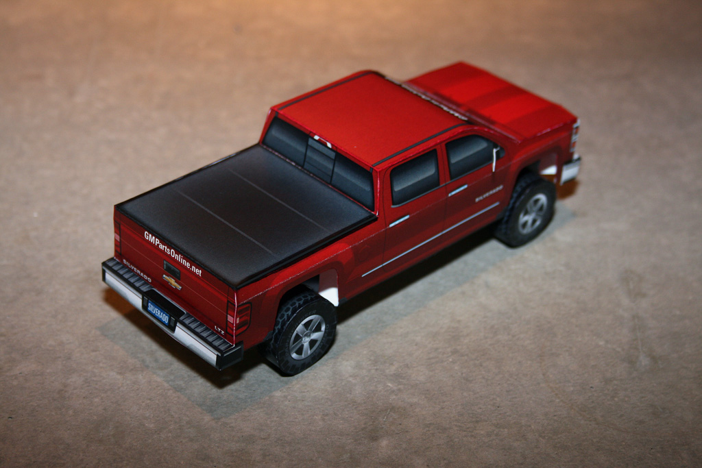 New paper model completed: 2014 Chevy Silverado « Papercruiser.com